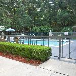 great pool area with quiet surroundings