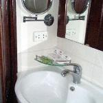 Sink and toiletries