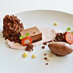 Variation of chocolate and strawberry, truly beautiful.