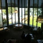 dining area with window view of KY lake