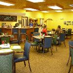 Interior of Bush's Family Cafe