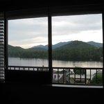 Window view to Mirror Lake