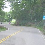 Tail of the Dragon approaching scenic overlook