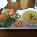 Soup, Salad & Gluten-free Biscuit