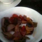 'as served, roasted vegetables'