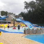 slides, chute and baby pool