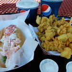 Lobster Roll and Fried Clams at The Sea Basket