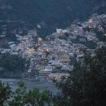 Positano lights from our balcony