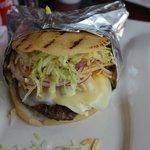 Supermoon Arepa Burger--best burger EVER