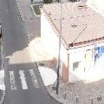 vista: la calle desde el hotel