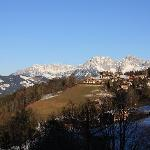 Blick vom Hotel in Richtung Wilder Kaiser