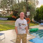 Juan by the pool
