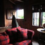 Dutch door and living area