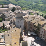 San Gimignano from top of tower..