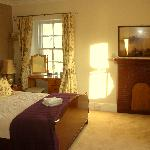 King size room with views of Callander meadows & the river teith