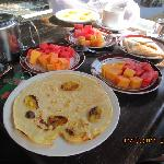 breakfast meals beside the pool