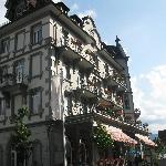 The Carlton half of the hotel