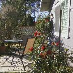Sitting Outside - Lavender Cottage