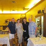 fantastic restaurant reccomendation from Antica Residenza / me, Jim, Peggy