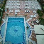 Hotelpool, Bild von oben