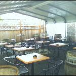 Covered outdoor smoking patio 2011