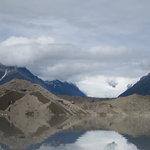 The glaciers surrounding the lake