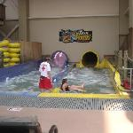 Waterslides were a favorite of the grandchildren!