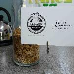 Our complimentary breakfast: locally-roasted coffee, muffins and home-made granola