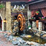Mimino: waterwheel by the summer terrace