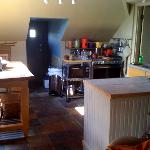 Kitchen in the attic suite