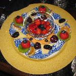 Spectacular breakfast fruit plate