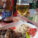 Kebab with Efes