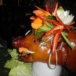 The Suckling Pig...preordered for birthday dinner.