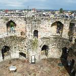 View looking down into Cliffords Tower