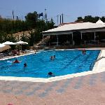 The pool and bar area.