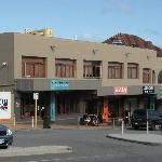 The front of the hostel