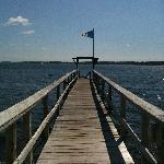 The walkway to the kayaks and dock