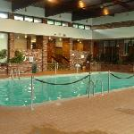 Reception rooms adjoin the pool