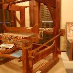 A loom and a painted trunk