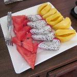 Fresh fruit from restaurant