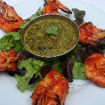 crevettes tandoori, épinards à la crème