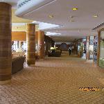 Hotel reception area.
