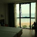 view of our room and the big windows