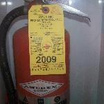 2009 was the date of when the fire extinguishers were checked.