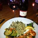 King salmon dinner with a great Pinot Noir