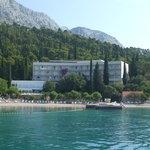 l 'hotel vu de  'la mer