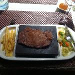 stone grill rib eye steak