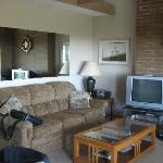 Sofa and TV