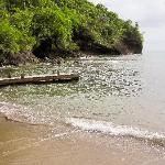 la petite plage en contrebas