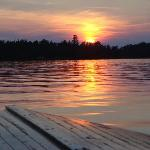 Sunset on the French River